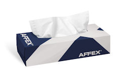 "Picture of AFFEX Facial Tissue , 8.2""x 8.5"", 2-Ply, 100 SH/BX, 30 boxes per case"