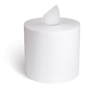 Center Pull Towel White