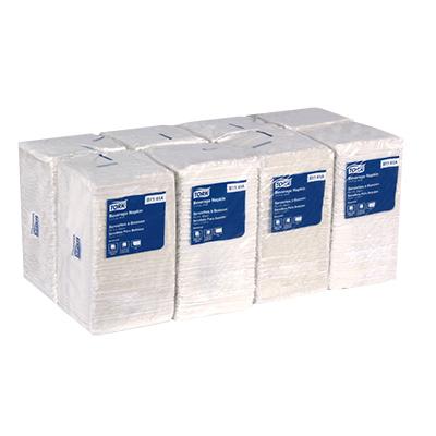 Picture of Essity Beverage , Bev Napkins, 1-Ply, 9 x 9 , 1/4 Fold, White, 4000/ct (TRKB1141A)