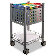 Picture of Sidekick File Cart, One-Shelf, 13 3/4w x 15 1/2d x 26 1/4h, Matte Gray