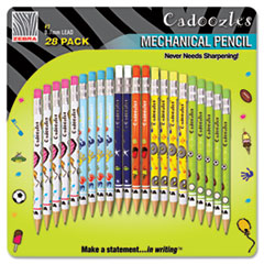 Picture of Cadoozles Mechanical Pencil, #2, Assorted Barrels, 0.9 mm, 28/Pack