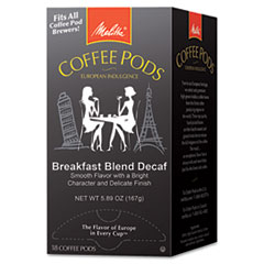 Picture of Coffee Pods, Breakfast Blend Decaf, 18 Pods/Box
