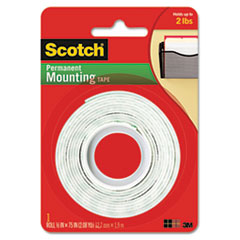 "Picture of Foam Mounting Double-Sided Tape, 1/2"" Wide x 75"" Long"