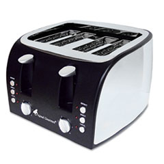 Picture of 4-Slice Multi-Function Toaster with Adjustable Slot Width, Black/Stainless Steel