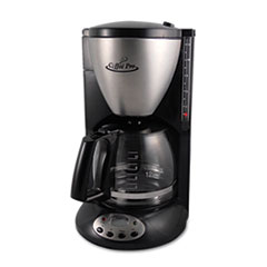 Picture of Home/Office Euro Style Coffee Maker, Black/Stainless Steel