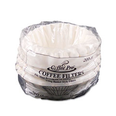 Picture of Basket Filters for Drip Coffeemakers, 10 to 12-Cups, White, 200 Filters/Pack
