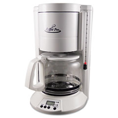 Picture of Home/Office 12-Cup Coffee Maker, White