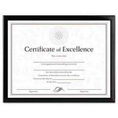 Picture of Value U-Channel Document Frame w/Certificates, 8 1/2 x 11, Black