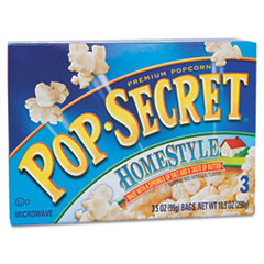 Picture of Microwave Popcorn, Homestyle, 3.5oz Bags, 3/Box