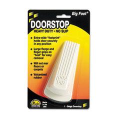 Picture of Big Foot Doorstop, No Slip Rubber Wedge, 2 1/4w x 4 3/4d x 1 1/4h, Beige