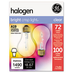 Picture of Halogen Bulb, Globe, 72 Watts, 2/Pack