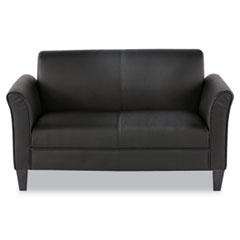 Picture of Alera Reception Lounge Furniture, Loveseat, 55-1/2w x 31-1/2d x 32h, Black