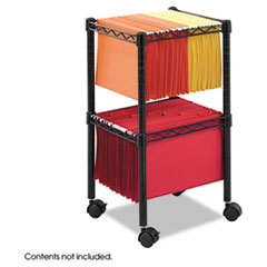 Picture of Two-Tier Compact Mobile Wire File Cart, Steel, 15-1/2w x 14d x 27-1/2h, Black