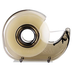 "Picture of H127 Refillable Handheld Tape Dispenser, 1"" Core, Plastic/Metal, Smoke"