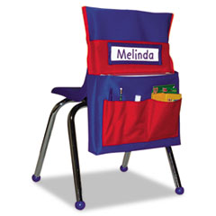 Picture of Chairback Buddy Pocket Chart, 12 x 22 1/2, Blue/Red
