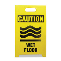 Picture of Economy Floor Sign, 12 x 14 x 20, Yellow/Black, 2/Pack