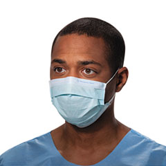 Picture of Procedure Mask, Pleat-Style w/Ear Loops, Blue, 500/Carton