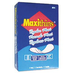 Picture of Maxithins Sanitary Pads, 100/Carton