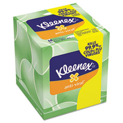 Picture of Anti-Viral Facial Tissue, 3-Ply, 68 Sheets/Box