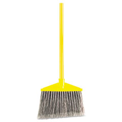 "Picture of Angled Large Broom, Poly Bristles, 46 7/8"" Metal Handle, Yellow/Gray"