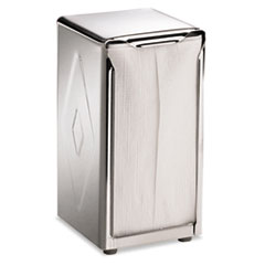 Picture of Tabletop Napkin Dispenser, Tall Fold, 3 3/4 x 4 x 7 1/2, Capacity: 150, Chrome
