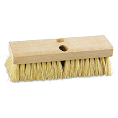 "Picture of Deck Brush Head, 10"" Wide, Tampico Bristles"