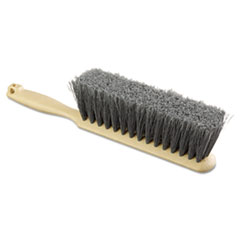 "Picture of Counter Brush, Flagged Polypropylene Fill, 8"" Long, Tan Handle"