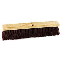 "Picture of Floor Brush Head, 18"" Wide, Maroon, Heavy Duty, Polypropylene Bristles"