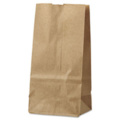 Picture of #2 Paper Grocery Bag, 30lb Kraft, Standard 4 5/16 x 2 7/16 x 7 7/8, 500 bags