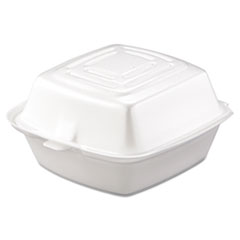 Picture of Carryout Food Container, Foam, 1-Comp, 5 1/2 x 5 3/8 x 2 7/8, White, 500/Carton