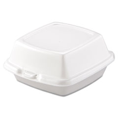 Picture of Carryout Food Containers, Foam, 1-Comp, 5 7/8 x 6 x 3, White, 500/Carton