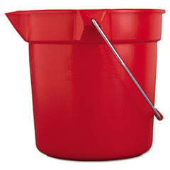 Picture of BRUTE Round Utility Pail, 10qt, Red