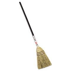 "Picture of Lobby Corn-Fill Broom, 38"" Handle, Brown"