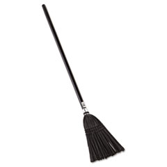 "Picture of Lobby Pro Synthetic-Fill Broom, 37 1/2"" Height, Black"