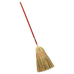 "Picture of Standard Corn-Fill Broom, 38"" Handle, Red"
