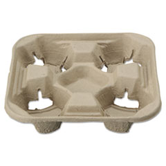 Picture of StrongHolder Molded Fiber Cup Trays, 8-22oz, Four Cups, 200/Carton