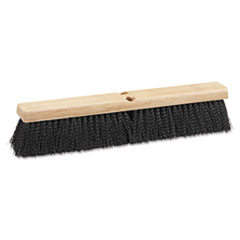"Picture of Floor Brush Head, 18"" Wide, Black, Medium Weight, Polypropylene Bristles"