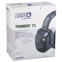 Picture of Thunder T3 Dielectric Earmuffs, 30NRR, Black
