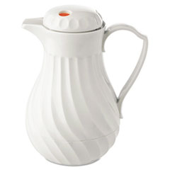 Picture of Poly Lined Carafe, Swirl Design, 64oz Capacity, White