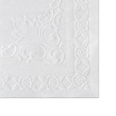 Picture of Classic Embossed Straight Edge Placemats, 10 x 14, White, 1000/Carton