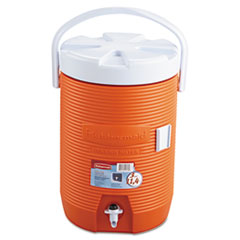 "Picture of Water Cooler, 12 1/2"" dia x 16 3/4h, Orange"