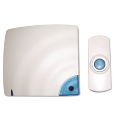 Picture of Wireless Doorbell, Battery Operated, 1-3/8w x 3/4d x 3-1/2h, Bone