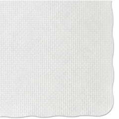 Picture of Knurl Embossed Scalloped Edge Placemats, 9 1/2 x 13 1/2, White, 1000/Carton