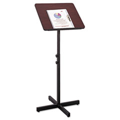 Picture of Adjustable Speaker Stand, 21w x 21d x 29-1/2h to 46h, Mahogany/Black