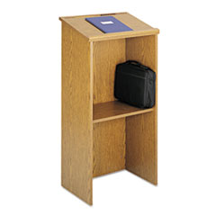 Picture of Stand-Up Lectern, 23w x 15-3/4d x 46h, Medium Oak