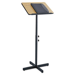 Picture of Adjustable Speaker Stand, 21w x 21d x 29-1/2h to 46h, Medium Oak/Black