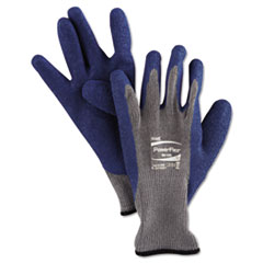 Picture of PowerFlex Gloves, Blue/Gray, Size 10, 1 Pair