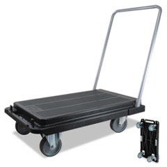 Picture of Heavy-Duty Platform Cart, 300lb Capacity, 21w x 32 1/2d x 36 3/4h, Black
