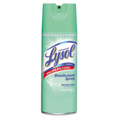 Picture of Lysol Disinfectant Spray, Crystal Waters, 12.5 oz Aerosol, 12 Cans/Carton