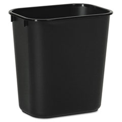 Picture of Soft-Sided Wastebasket, 14qt, Plastic, Black